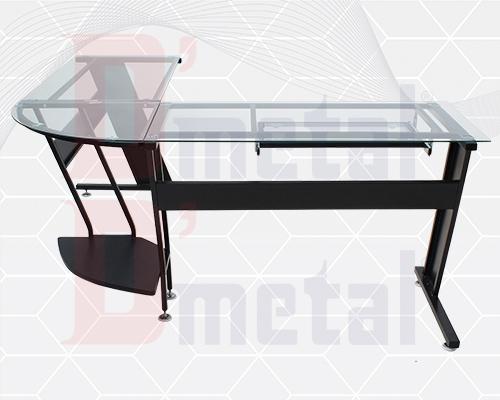 Escritorios en l comprar escritorios l lado b wengue mesa for Escritorio de vidrio